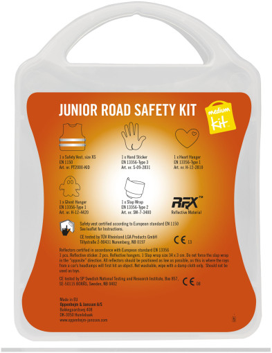 Relatiegeschenk MyKit Medium Junior Road Safety kit bedrukken