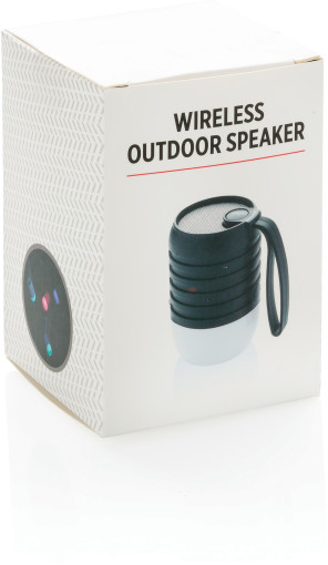 Relatiegeschenk Outdoor speaker Colour Changing bedrukken