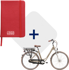 Relatiegeschenk Notitieboek Colour met E-bike