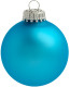 Kerstbal [7 cm] - Turquoise